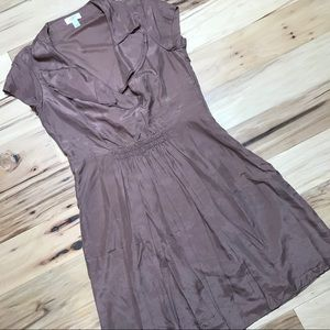 Ann Taylor LOFT Sz 12 Rose taupe 100% silk dress